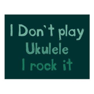 Roca del Ukulele él postal