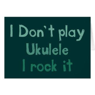 Roca del Ukulele él tarjeta de felicitación