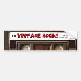Roca del vintage pegatina para auto