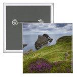 Roca del violín del arco, Portknockie, Escocia Pin Cuadrado