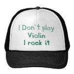 Roca del violín él gorra