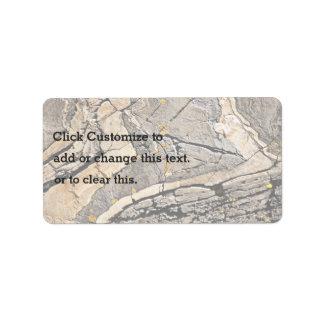 Roca depresiva etiquetas de dirección