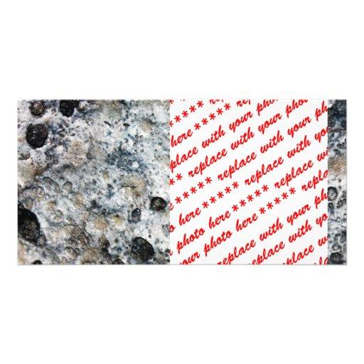 Roca desigual aterronada de la luna tarjetas fotográficas personalizadas