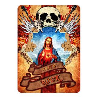 """Roca divertida de Jesús Invitación 5"""" X 7"""""""