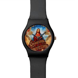 Roca divertida de Jesús Relojes De Pulsera
