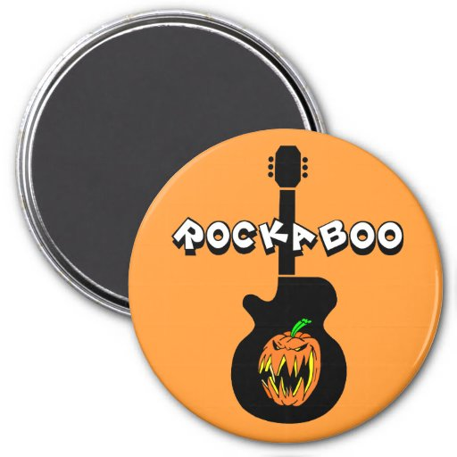 Roca divertida Halloween Imán Redondo 7 Cm