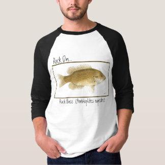 Roca en… Camiseta del bajo de roca Polera