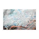 Roca en el desierto lienzo envuelto para galerías