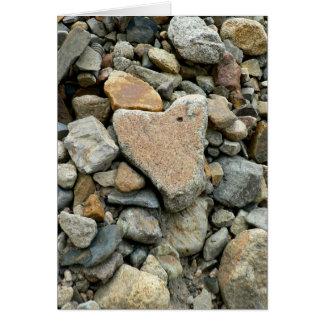 Roca en forma de corazón tarjeta de felicitación