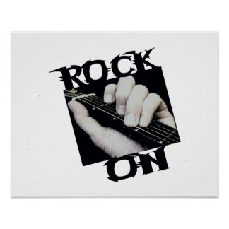 Roca en guitarrista póster