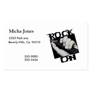 Roca en guitarrista tarjeta de visita
