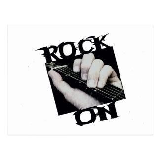 Roca en guitarrista tarjeta postal
