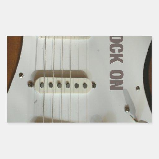 Roca en la guitarra eléctrica rectangular altavoz