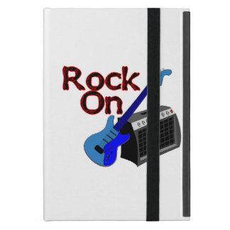 Roca en la guitarra y el amperio iPad mini cárcasas