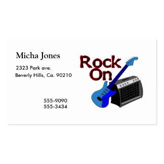 Roca en la guitarra y el amperio tarjetas de visita