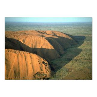 Roca en la puesta del sol, desierto de Ayers de Comunicado