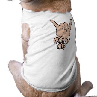 ROCA EN la ropa del mascota Playera Sin Mangas Para Perro