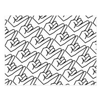 Roca en muestra de la mano tarjetas postales