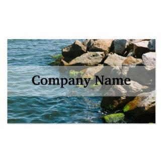 Roca en un mar azul fotografía del paisaje plantillas de tarjetas de visita