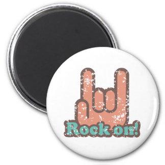 Roca encendido imán redondo 5 cm