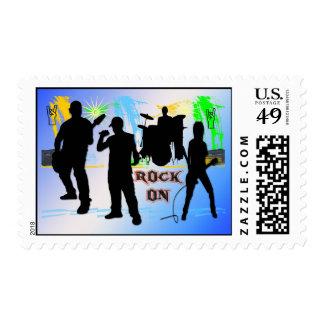 Roca encendido - oscile el franqueo de la banda sello postal