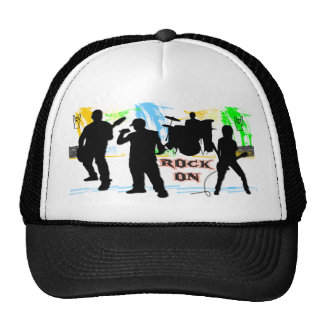 Roca encendido - oscile el gorra de la banda del r