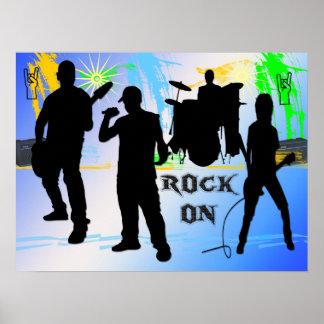 Roca encendido - oscile el poster de la banda