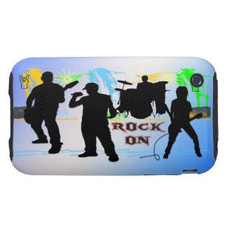 Roca encendido - oscile la caja de la casamata de tough iPhone 3 protector