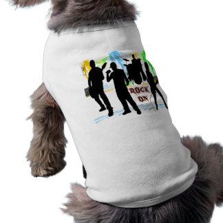 Roca encendido - oscile la ropa del mascota de la playera sin mangas para perro