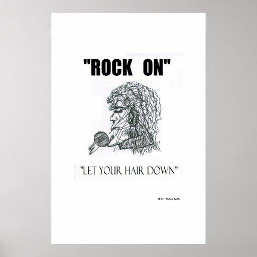 Roca encendido póster