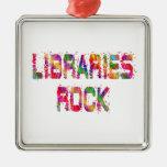 Roca enérgica de las bibliotecas ornamentos de navidad