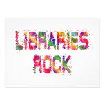 Roca enérgica de las bibliotecas comunicado personalizado