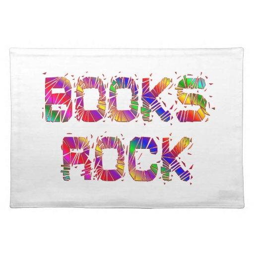 Roca enérgica de los libros mantel individual