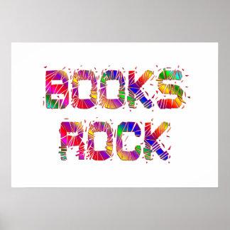 Roca enérgica de los libros impresiones