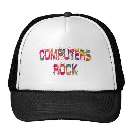 Roca enérgica de los ordenadores gorras