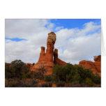 Roca equilibrada, arcos parque nacional, tarjeta d