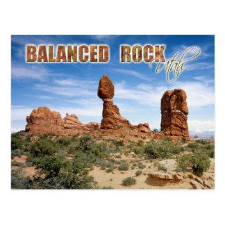 Roca equilibrada, arcos parque nacional, Utah Postales