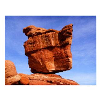 Roca equilibrada, jardín de dioses postal