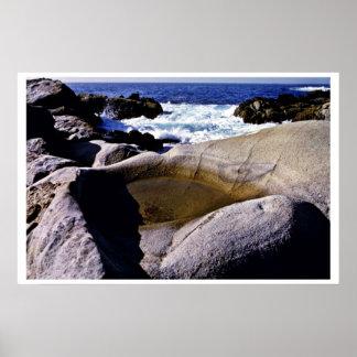 Roca esculpida - pinta Coto del estado de Lobos Posters
