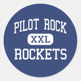 Roca experimental - Rockets - alta - roca Pegatina Redonda