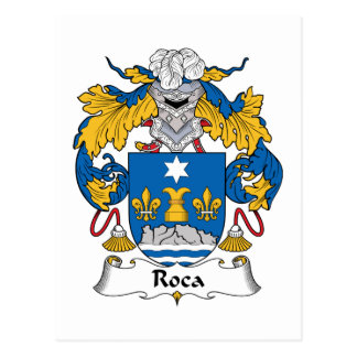 Roca Family Crest Postcard