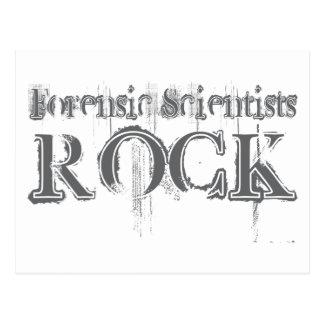 Roca forense de los científicos postal