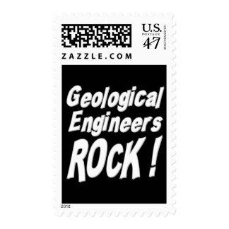 ¡Roca geológica de los ingenieros! Sello Postal