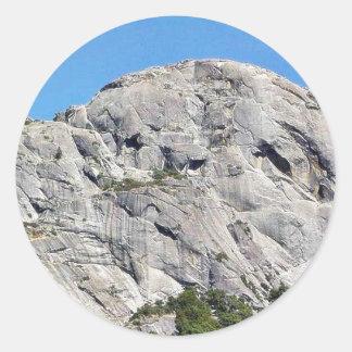 Roca grande Mauntain Etiquetas Redondas