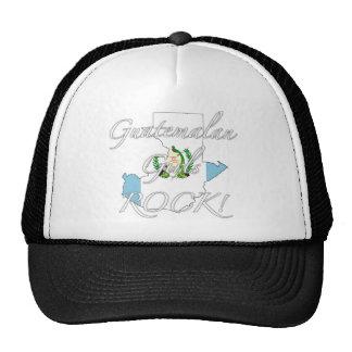 ¡Roca guatemalteca de los chicas! Gorras