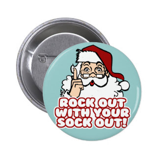 Roca hacia fuera con su calcetín hacia fuera Santa Pins