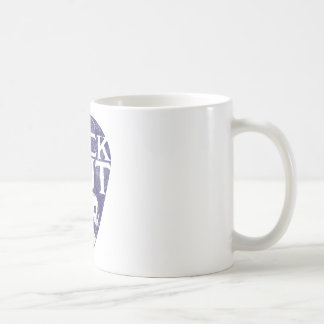 Roca hacia fuera taza básica blanca
