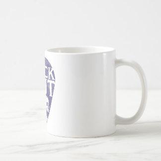 Roca hacia fuera taza de café