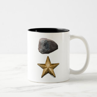Roca + Imagen de la estrella Taza De Dos Tonos