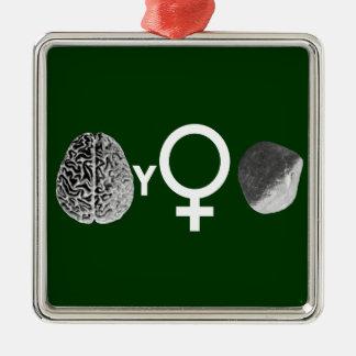 ¡Roca inteligente de los chicas! Adorno Navideño Cuadrado De Metal
